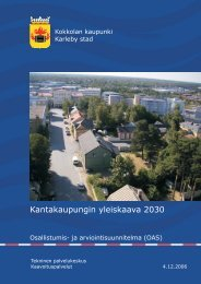 Osallistumis- ja arviointisuunnitelma - Kokkola