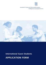 Hamburg application - Division of International Education