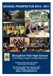 Prospectus 2010 to 2011 - Broughton Hall High School