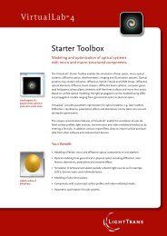 Starter Toolbox VirtualLab™4 - LightTrans