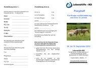 Ponytreff Für Kinder mit Behinderung von 6 bis 14 Jahren 08. bis 10  ...