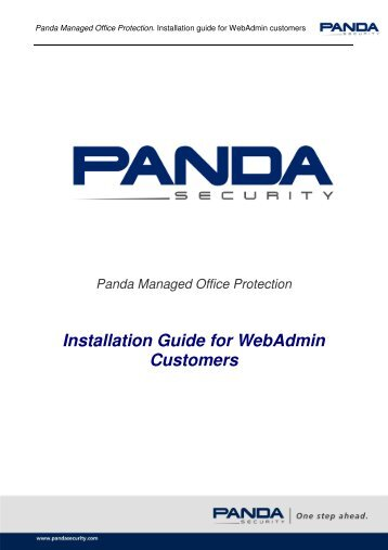 Installation Guide for Webadmin Customers