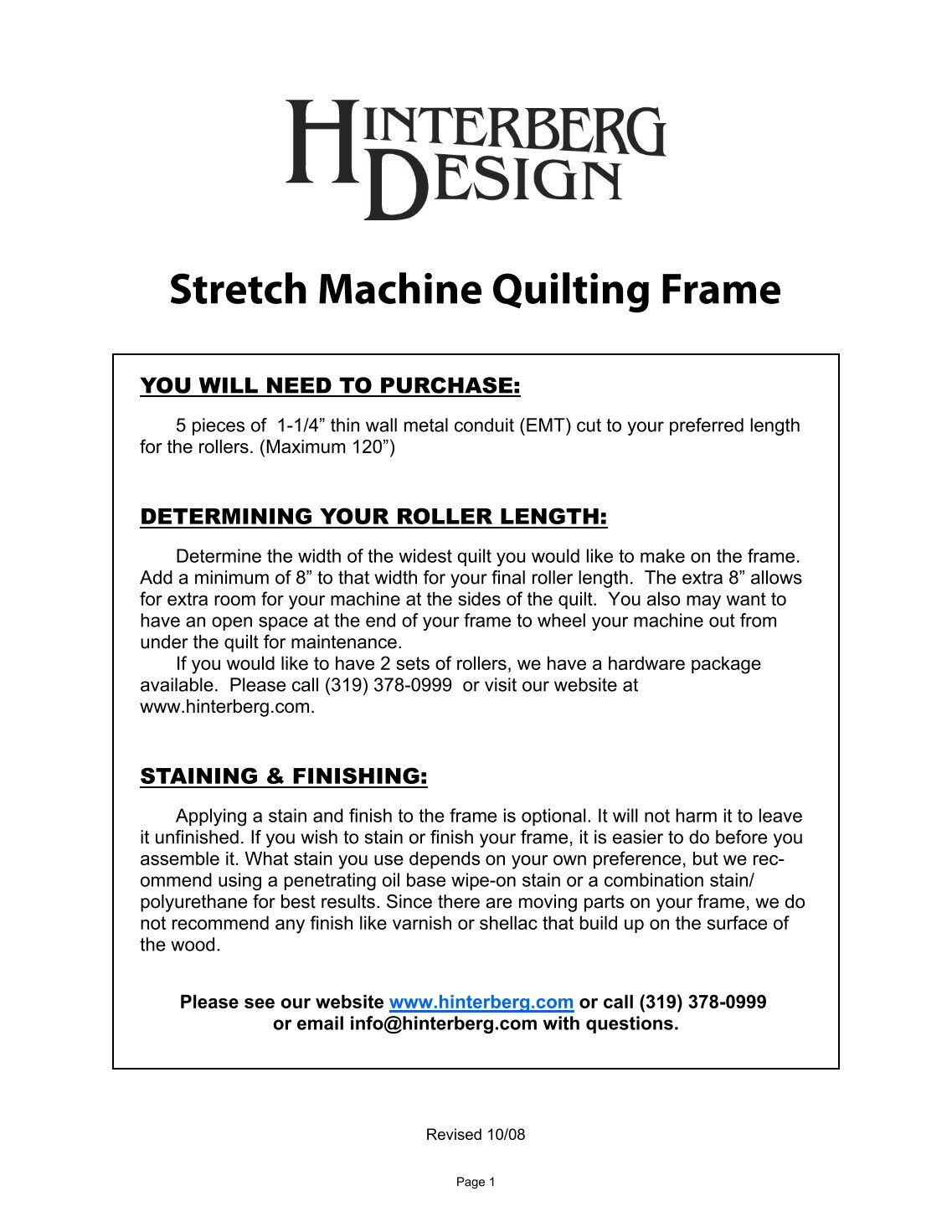 Hinterberg Design Quilting Hoops And Frames ✓ Quilting