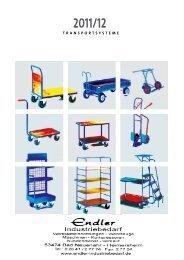 Rollcart Transportsysteme 2012 - Endler Industriebedarf