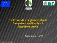 Evolution des réglementations françaises ... - INRA Montpellier