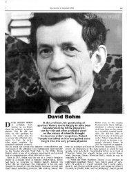 'David Bohm' [PDF 1.7MB] - Robert Temple