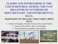 Floods and windstorms in the Czech Republic during