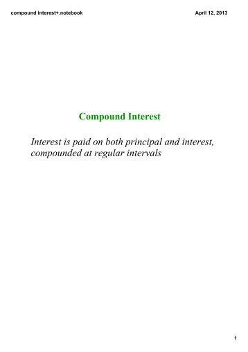 math worksheet : simple  compound interest worksheet notebook  grade 10 math : Compound Interest Math Worksheet