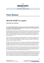 Further information are available for download as PDF ... - Meyer Werft