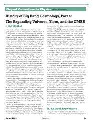 History of Big Bang Cosmology, Part 4 - Sigma Pi Sigma