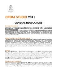 OPERA STUDIO 2011 - Accademia Nazionale di Santa Cecilia
