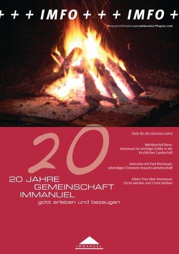 ++ imfo +++ imfo - Immanuel Online