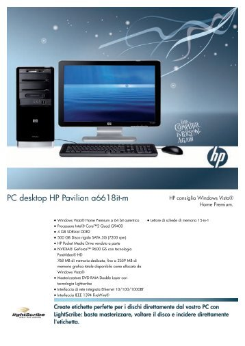 PSG Consumer Collateral Christmas08 HP Desktop Bundle Datasheet
