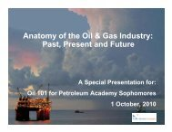 Anatomy of the Oil & Gas Industry: Past, Present and Future