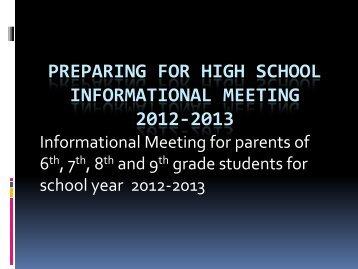 5th - 8th Grade Preparing for High School - Desert Vista High School