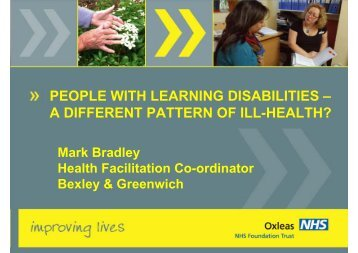 PEOPLE WITH LEARNING DISABILITIES – A DIFFERENT ...