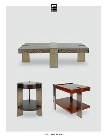MONTANA TABLES - De Sousa Hughes