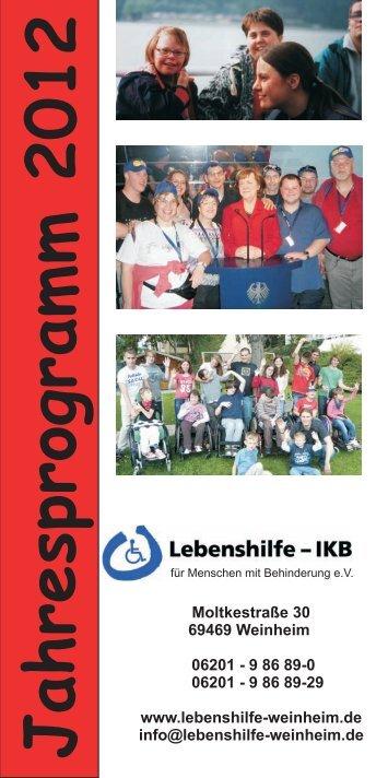 Jahresprogramm 2012 - Lebenshilfe Weinheim