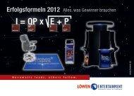 Erfolgsformeln 2012 - Löwen Entertainment GmbH