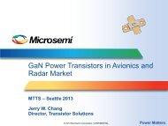 GaN Power Transistors in Avionics and Radar ... - Richardson RFPD