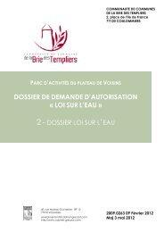 dossier de demande d'autorisation Â« loi sur l'eau - Le Renard