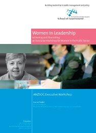 Women in Leadership - Australia and New Zealand School of ...