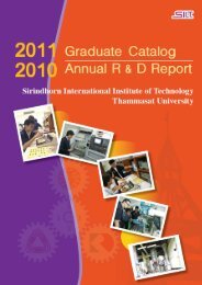 2011 Graduate Catalog and 2010 Annual R - Sirindhorn ...