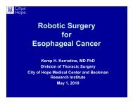 Robotic Surgery for Esophageal Cancer