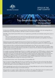 Breakthrough Actions.indd - Chief Scientist for Australia