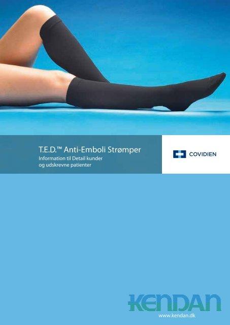 """godt på fødderne kl rabat butik T.E.D.â""""¢ Anti-Emboli Strømper - Kendan"""