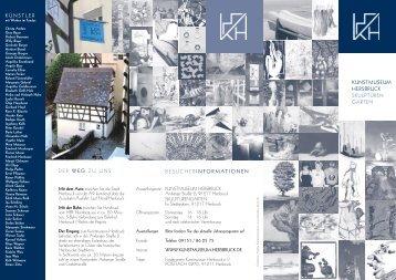 Museumspropekt in deutscher Sprache - Kunstmuseum Hersbruck