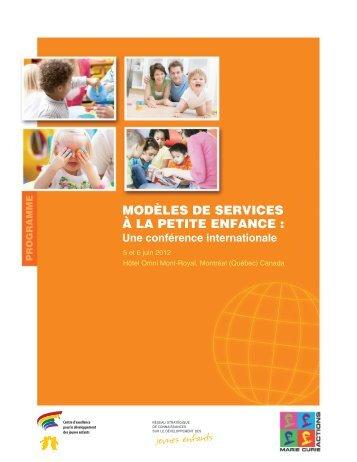Programme - Conférence - Modèles de services à la petite enfance ...