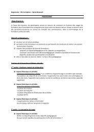 Programme de la session 2 - formation aux techniques d ... - ANDML
