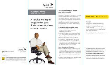 A service and repair program for your Sprint or Nextel phone or ...
