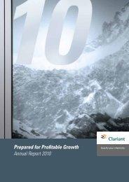 Prepared for Profitable Growth Annual Report ... - Alle jaarverslagen