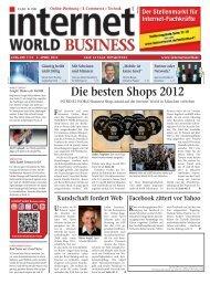 Die besten Shops 2012 - Internet World Business