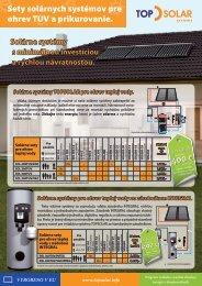 Sety solárnych systémov pre ohrev TUV a ... - KTO International
