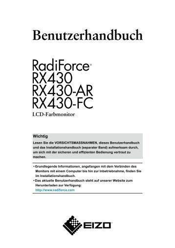 So stellen Sie die Helligkeit ein - RadiForce