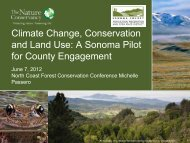 Climate Change, Conservation and Land Use: A Sonoma Pilot for ...