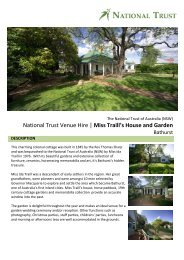 National Trust Venue Hire   Miss Traill's House and Garden - NSW