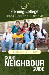 Good Neighbour Guide - Fleming College