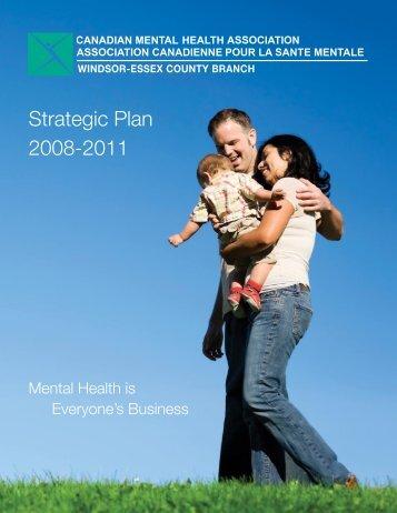 Strategic Plan 2008-2011 - Canadian Mental Health Association