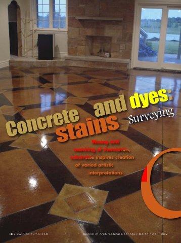 Concrete dyes - PaintSquare