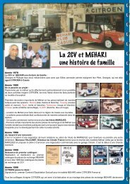 La Génèse du 2CV-MCC - Mehari 2 CV Club