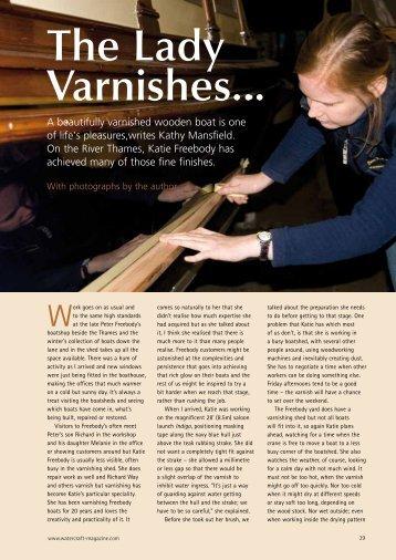 The Lady Varnishes... - Marineware