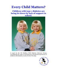 Every Child Matters? - Children with Diabetes