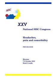 National SISC Congress H ead ac h es+ p ain and c om orb id ity