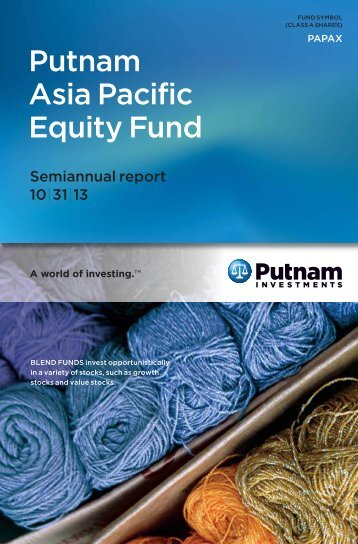 Putnam Asia Pacific Equity Fund - Putnam Investments