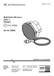 Multi-Solar 340 mm ø 230 V Halogen Art.-Nr ... - Horizont Klemmfix