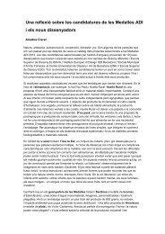 Una reflexió sobre les candidatures de les Medalles ADI i els ... - ESDi
